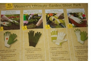 5 PAIRS Womens Ultimate Garden Glove