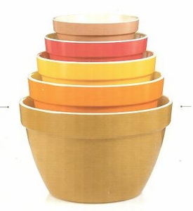 5 Piece melamine mixing bowl set