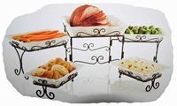 5 Tiered Buffet Server - with stoneware serving dishes