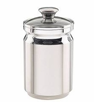 56 Oz 1 Piece Stainless Steel Canister with Glass Lid - tramontina