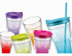 6 pcs. Insulated Tumbler cup set with Straws