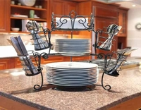 7 piece stackable buffet caddy server set