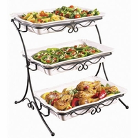 adjustable 3 tieres buffet server