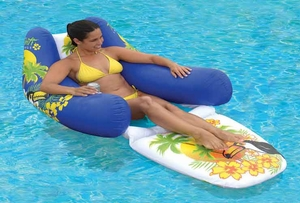 Blue Floating Private Lounger