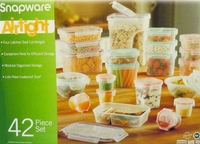 BPA Free Snapware 42 Piece Airtight Plastic Storage Container Set