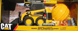 Cat Motorized Skid Steer Loader with 8 Functions + Worker