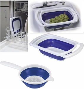 Collapsible Over-the-Sink Colander Set of 2