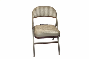 Comfort padded fabric folding chair