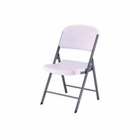 Contoured Folding Chair - White