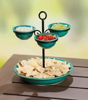 Decorative Chip and Dip Server