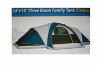 Denali Three Room Family Dome Tent