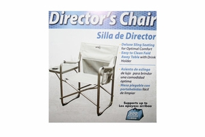 Director Chair - Fold Go Camp Chair With Drink holder and side Table