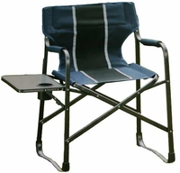 Director Chair - Fold & Go Camp Chair With Drink holder & side Table