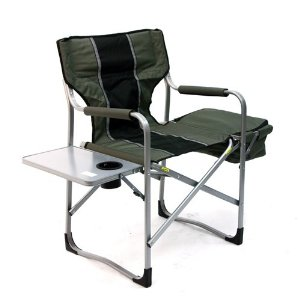 Directors Chair with Cooler and Side Table - Green / Black