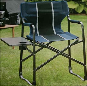 Directors Chair with drink holder and Side Table - Blue