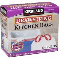 Drawstring Kitchen Trash Bags - 13 Gallon 200 count