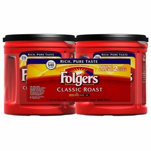 Folgers Ground Coffee Classic Roast - 33.9 oz. - 2 ct.
