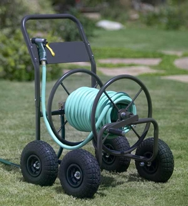 four wheel hose cart reel