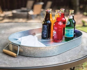 Galvanized beverage tub with Stand and bottle opener