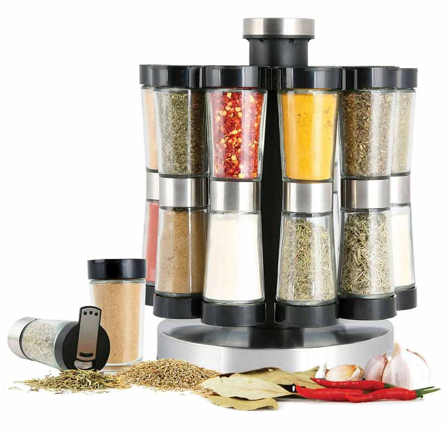 Store Your Spices In Stylish Safe Jars Gourmet Revolving Jar