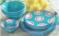 Indoor & Outdoor Melamine 16 pc Dinnerware Set