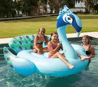 inflatable Giant Pool Floating Peacock