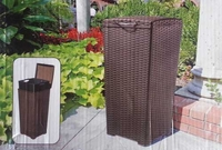 Keter Pacific Wicker Style Waste Bin Uses 30 Gal Bags