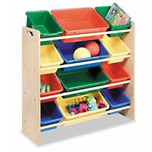Kids 12-bin Organizer - in primary colors