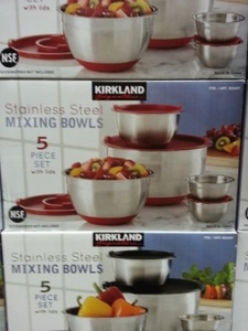 Kirkland Signature 18/10 Stainless Steel Mixing Bowls Set