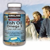 Kirkland Signature Enteric Coated Fish Oil Omega 3 1200 MG Fish Oil