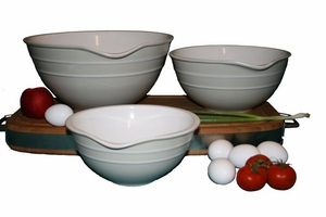 kitchen mixing bowls set with pouring spout
