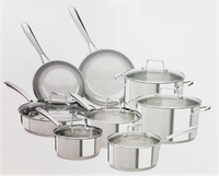 Kitchenaid 14PC Stainless Steel Cookware set