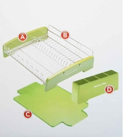 Kitchenaid 3 Piece Dish Drying Rack - black