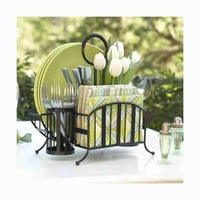 Lattice Wrought Iron Picnic Caddy