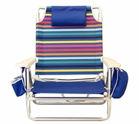 Lightweight 5-position adjustable beach chair
