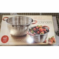 Linkfair set of 2 Colander Stainless Steel