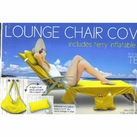 Lounge Chair Cover with pockets & pillow - Solid Yellow