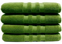 """Luxury Bath Towel 100% Cotton Green or Pink 4 Pack - 30"""" x 58"""""""
