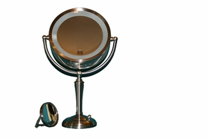 Magnifying illuminated lighted Mirror