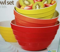 melamine bowls with lids - 4 Piece
