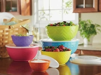 Melamine Mixing Bowls with lids - 6 pc.
