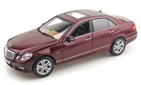 model car 1:18 Scale Metallic Red 2009 Mercedes-Benz E Class
