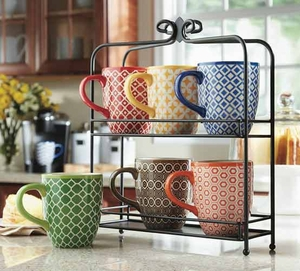 Mug Set with iron Stand - 7 piece