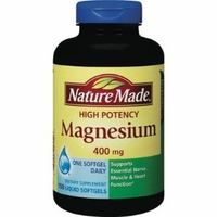 Nature Made High Potency Magnesium 400 mg - 150 Liquid Softgels