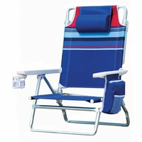 Nautica Beach chairs Blue Stripes