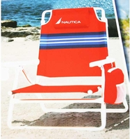 Nautica Beach chairs Red Stripes