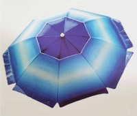 Nautica Beach Umbrella UPF 50+ Blue