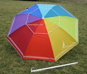 Nautica Beach Umbrella UPF 50+ Rainbow Color