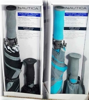 Nautica Golf Umbrella - Black/Blue