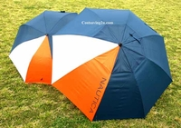 Nautica Golf Umbrella - Orange white Blue 2 piece